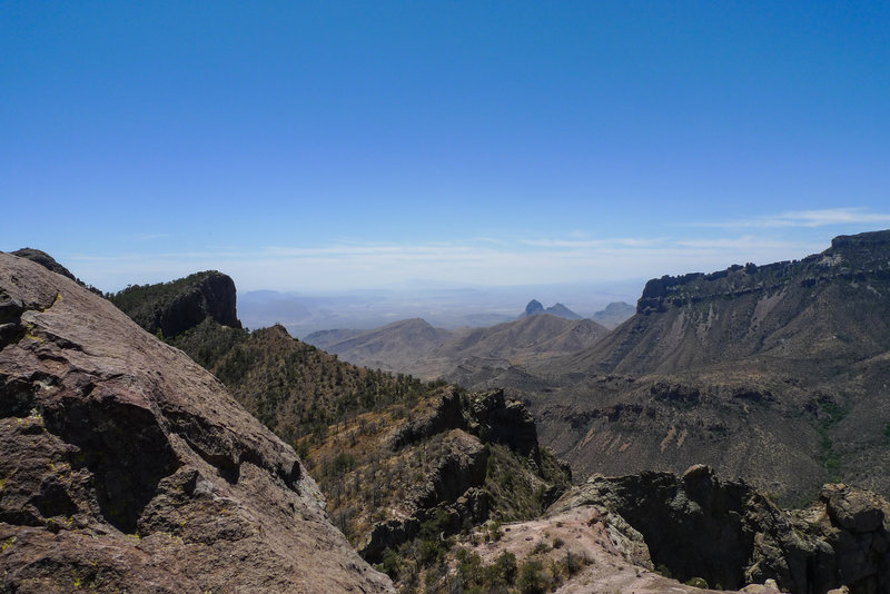 View from the top of the Lost Mine trail. Hey look, it's Mexico! No passport required!