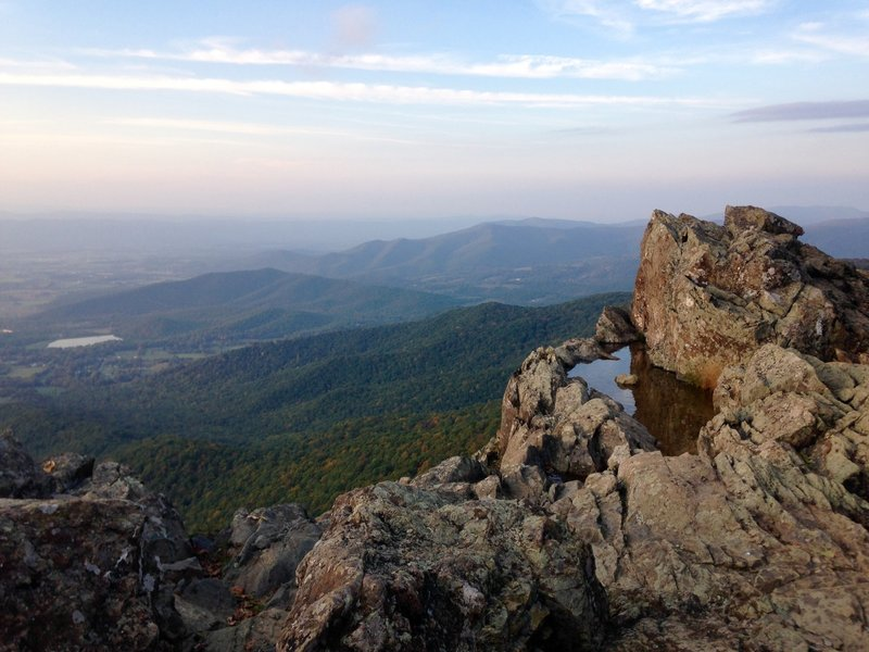 Little Stony Man, as seen from the Stonly Man Trail in early October.