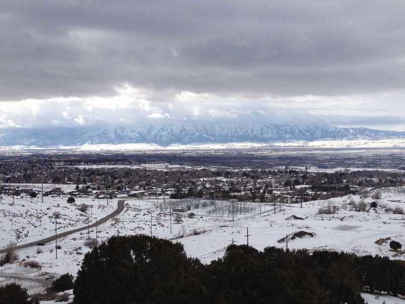 A view of Cache Valley from down lower on the King Nature Park North Ridge Trail