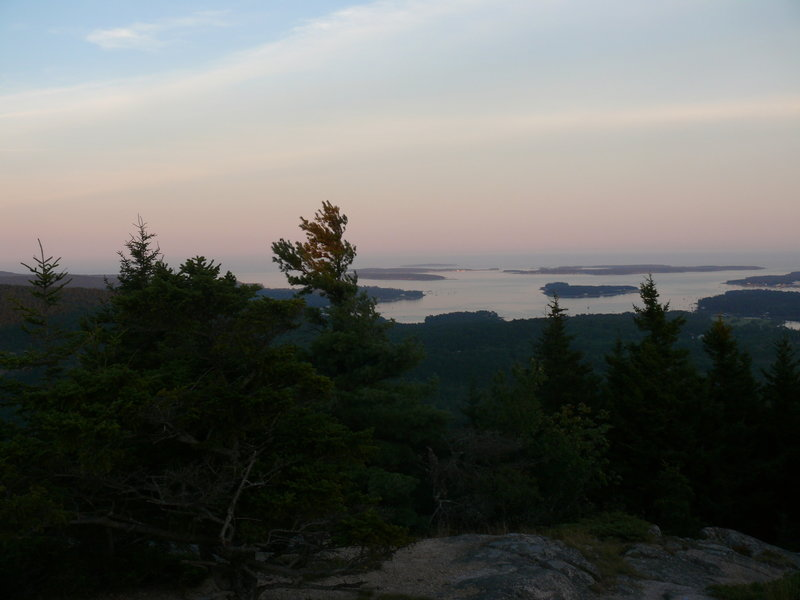 The spectacular view from the Beech Mountain Fire Tower.