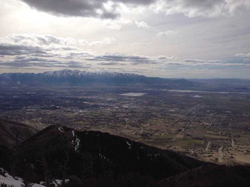 A view of Cache Valley and the Wellsvilles from the King Nature Park North Ridge Trail