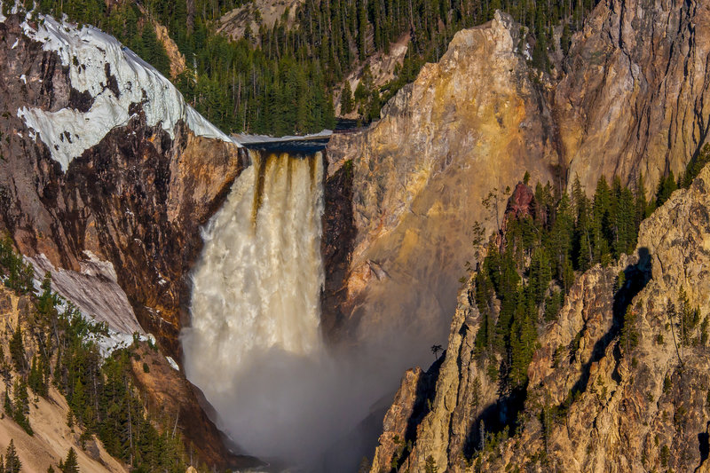 Upper Falls in the Grand Canyon of the Yellowstone.