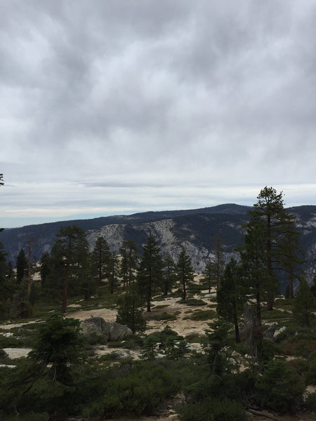 The last portion of our outing on the Pohono Trail, almost at the viewing point at Taft Point.