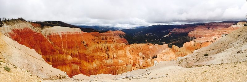 View from the Rampart Trail at Cedar Breaks National Monument.