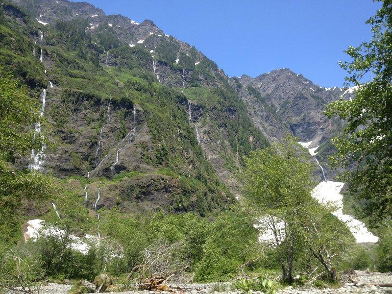 Enchanted Valley waterfalls.