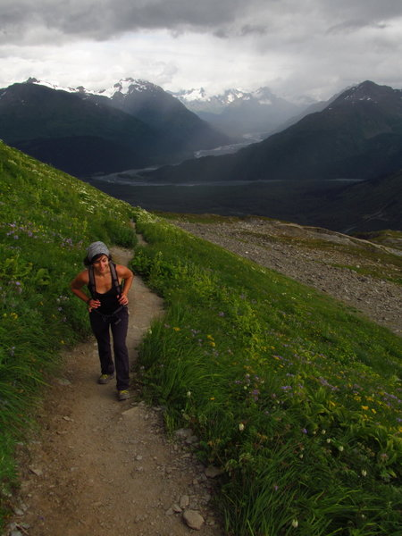 Heading up to Harding Icefield.