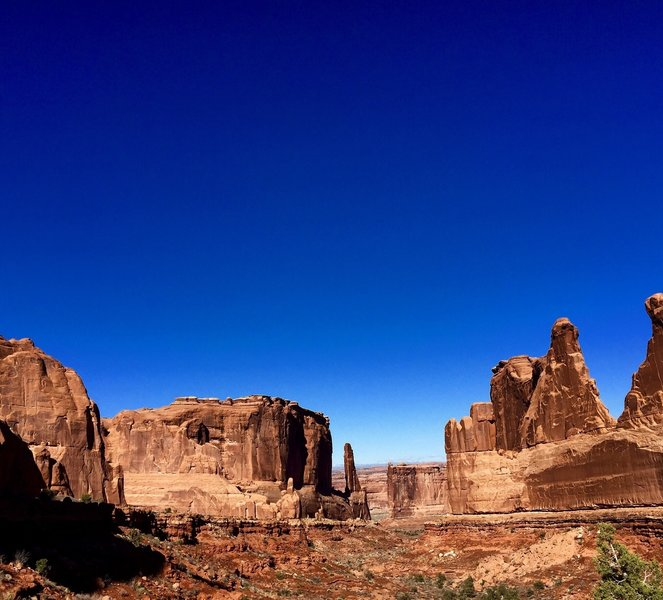 Nothing is quite like the view of red rocks against a blue sky, especially as seen from the Park Avenue Trail.