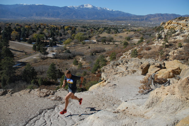 View of Pikes Peak and Colorado Springs!