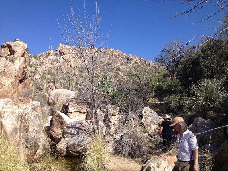 Exploring Romero Canyon.