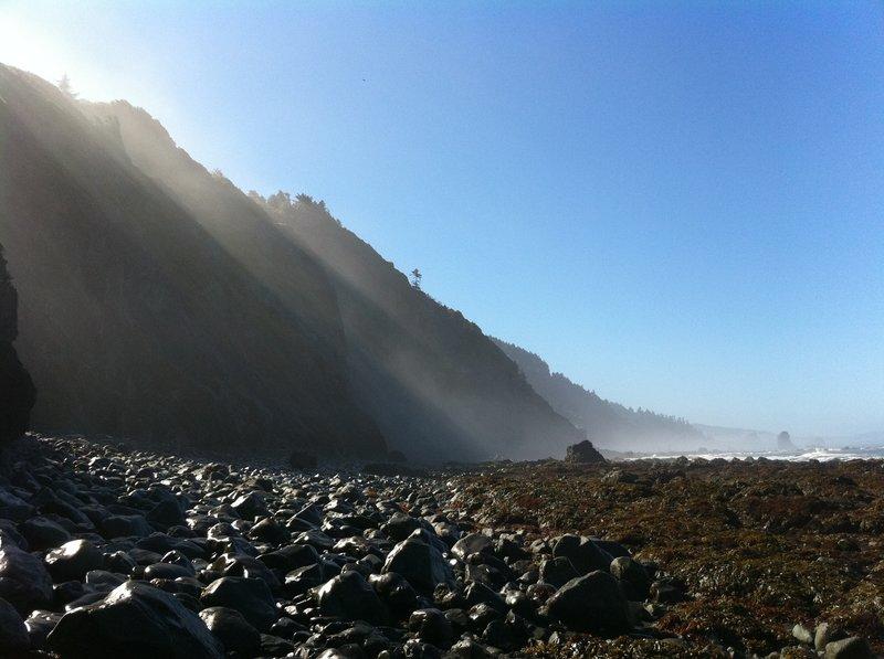 Fog over Damnation Cove.