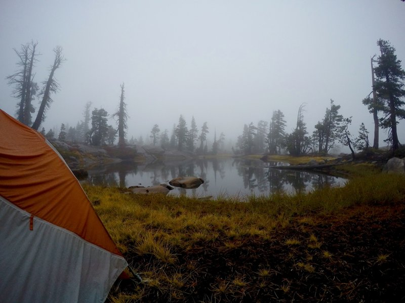 Our campsite at Five Lakes Basin.