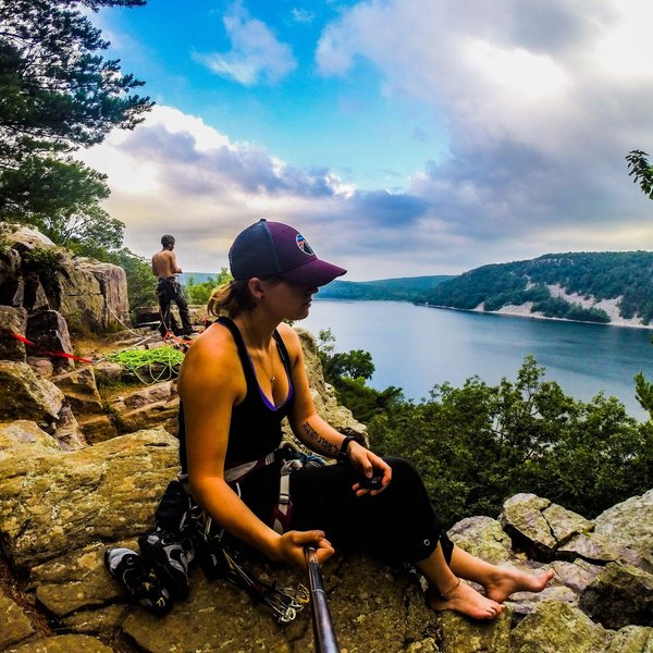 Gorgeous view on the West Bluff at Devil's Lake, as seen from the Ice Age Trail.