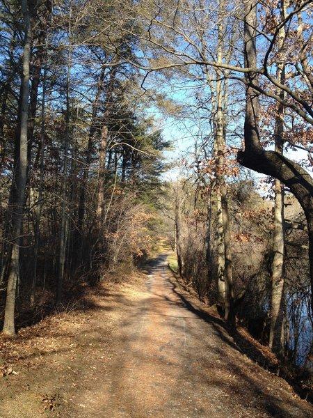 Nice wide trail around Shawnee Lake.