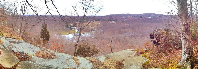Raven Rocks overlook panorama.