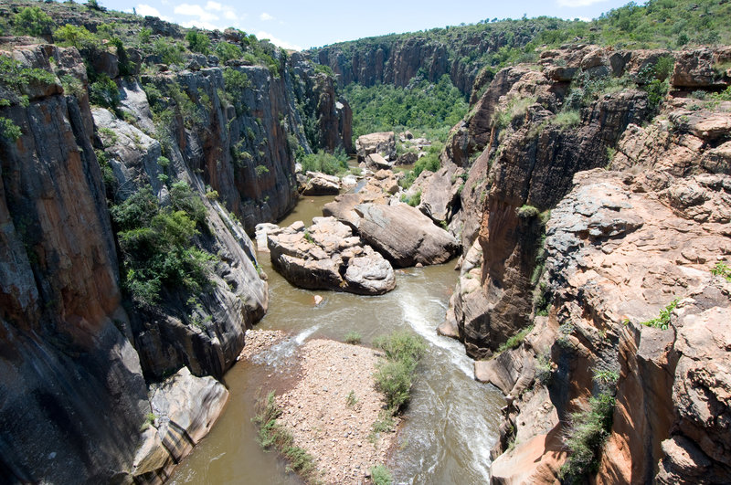 The Blyde River cuts through Bourke's Luck Potholes.