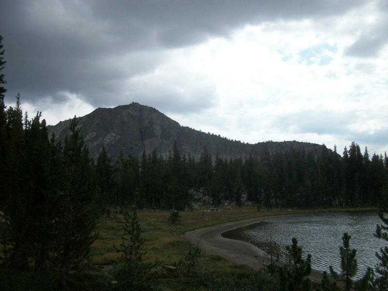 Upper State Lake with Dougherty Peak in the background.