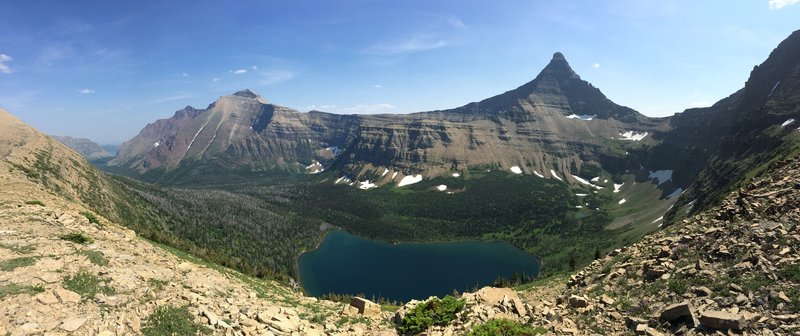 Glacier National Park spreads out from Dawson Pass!