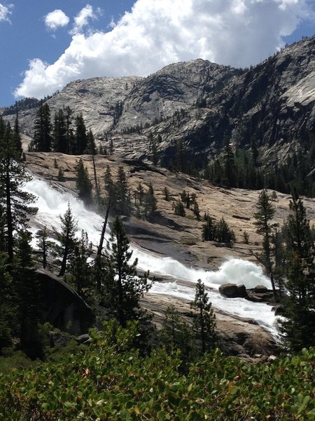 The start of Waterwheel Falls.