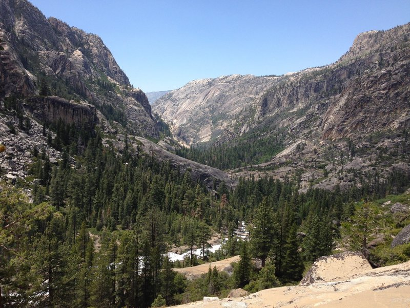 Looking out towards the Grand Canyon of the Tuolumne.