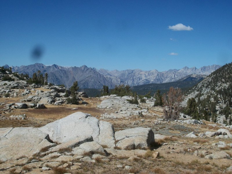 View north from Granite Pass on the Simpson Meadow Trail.