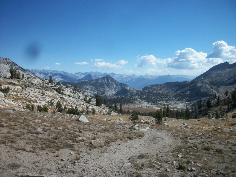 The view south from Granite Pass on the Simpson Meadow Trail.