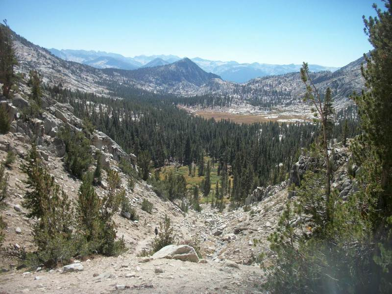 Views of Granite Basin from Granite Pass on the Simpson Meadow Trail.