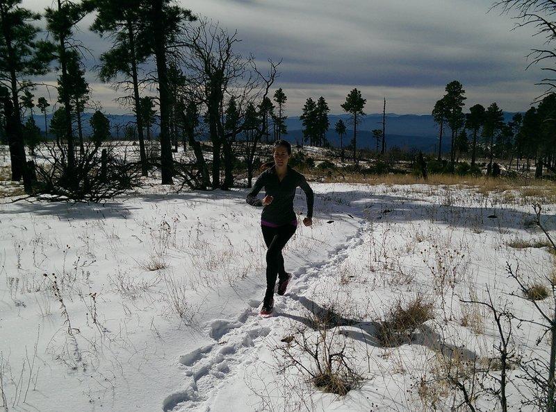 Snowier up high in Wilson Mountain.