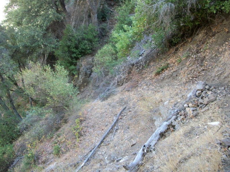 The treacherous SoB section of the Middle Fork Trail.