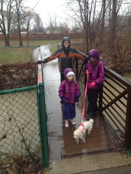 With proper clothing you can enjoy the County Crossing Trail in any weather!