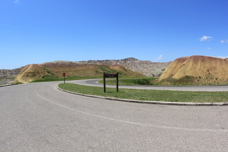 The Yellow Mounds pull off provides spectacular rainbow colored views.