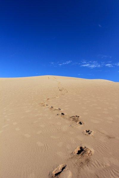 Descending from HIgh Dunes