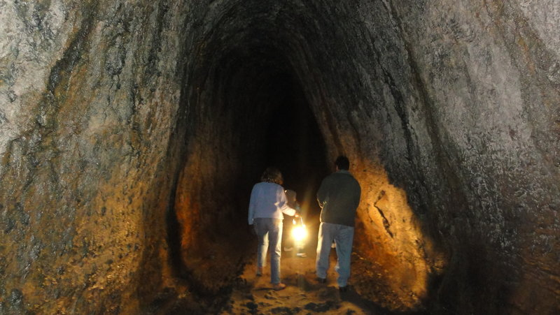 The Ape Cave (Lava Tube) is the main attraction.