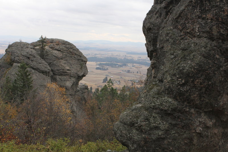 Great views can be had from the Iller Creek & Rocks of Sharon Trail.