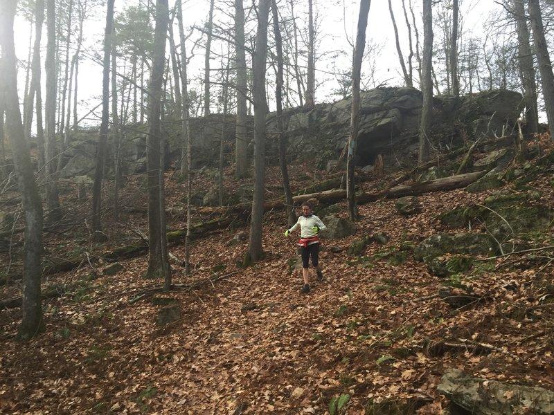 Wet leaves can make the trail pretty treacherous...