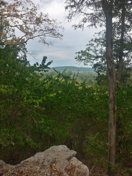 Looking out onto the Meramec Valley below.
