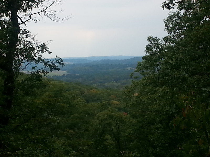 View from lookout on Flint Quarry Trail.