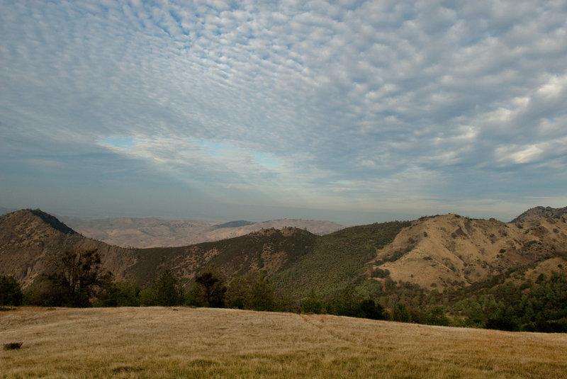 View along the Meridian Ridge Fire Road.
