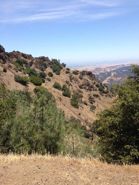 View from North Peak Trailhead.