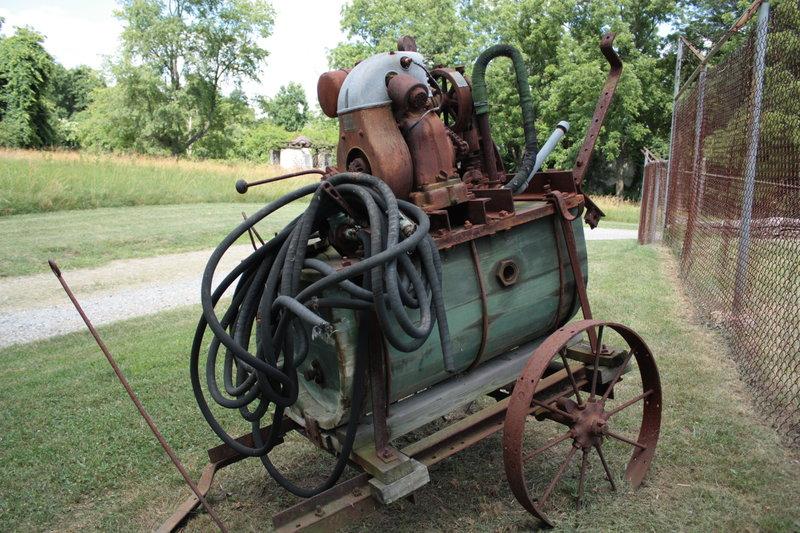 Historic equipment at Walnut Hill Barn.