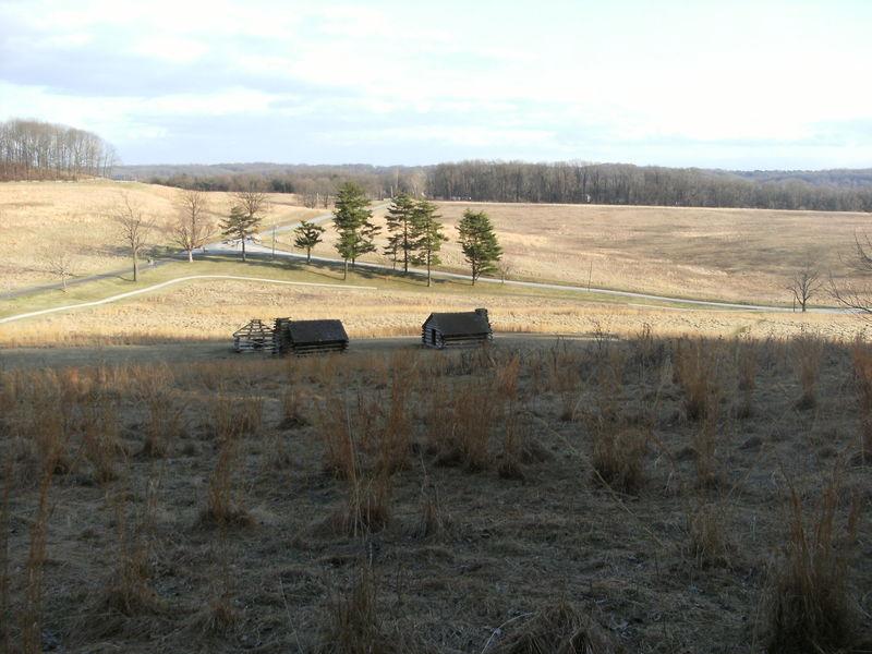 Bunkhouses near Joseph Plumb Martin Trail, Valley Forge National Historical Park.