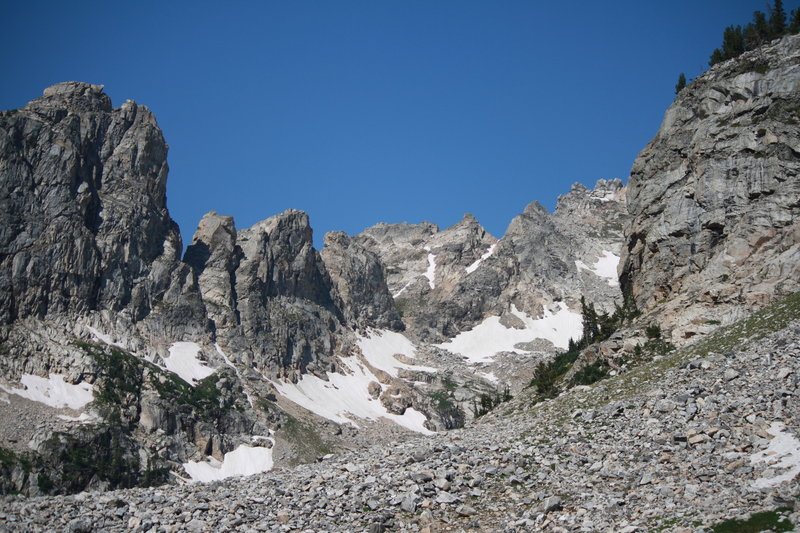 Lake of the Crags from below final climb.