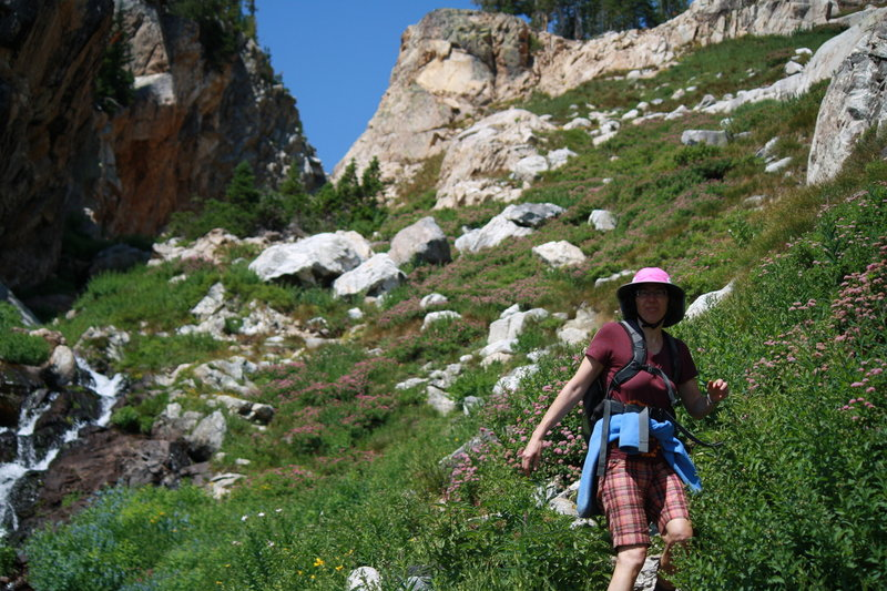 Descending from Lake of the Crags.