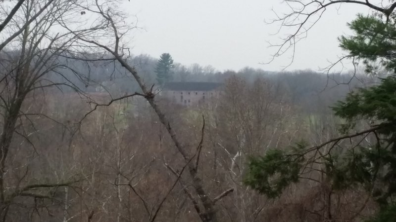 Looking across the Schuylkill River at the Pawlings Farm area and Walnut Hill Barn. There are more trails available across the river.