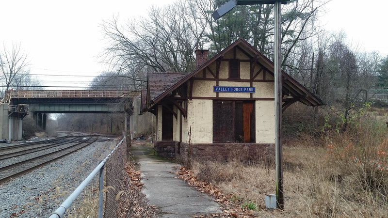 Abandoned train station. The area around the train station is currently closed because of construction of Sullivan's Bridge.