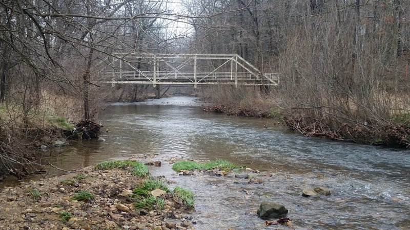 Wilson Road Bridge over Valley Creek just upstream of the trail.