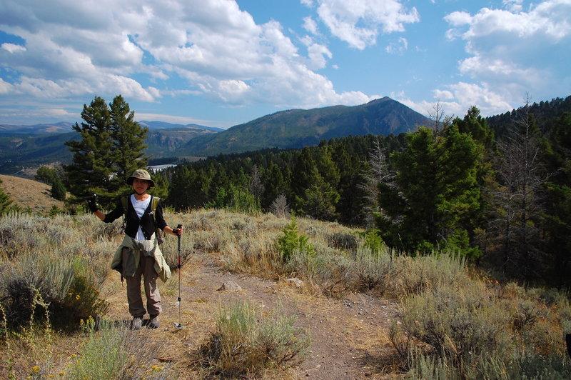 Hiking in Yellowstone NP.