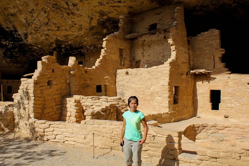 Cliff dwellings.