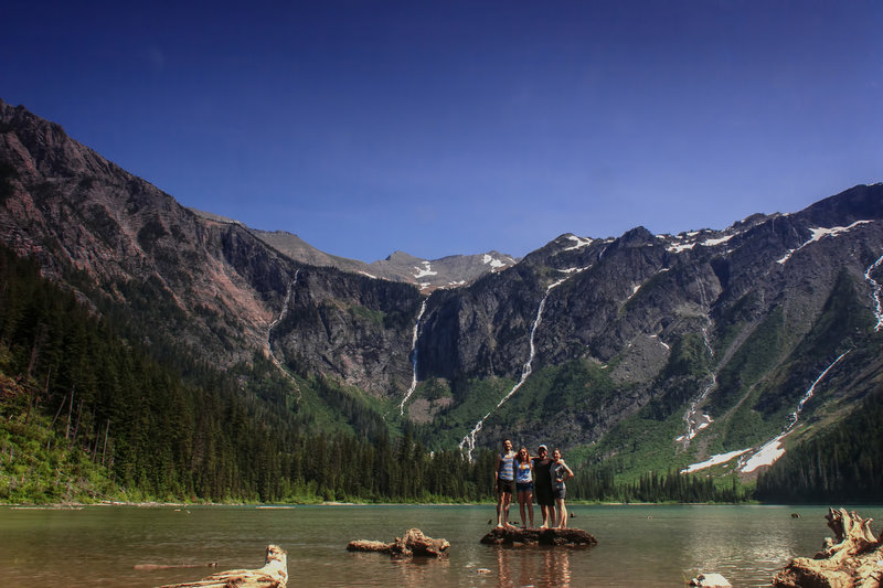 The gang at Avalanche Lake.