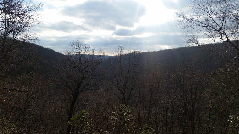 Looking into Valley Creek Valley