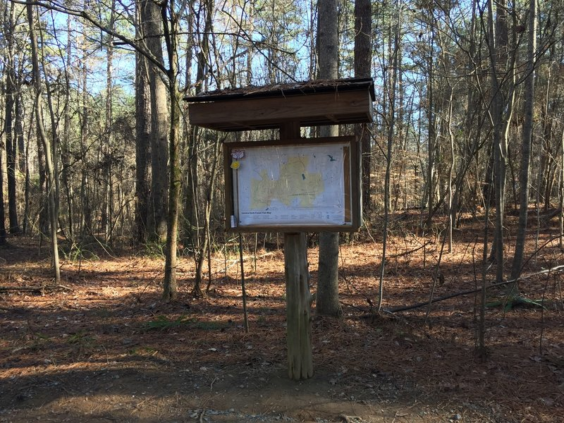 Carolina North Trail Map near intersection of Pumpkin Loop Trail with PSNC Corridor utility easement.
